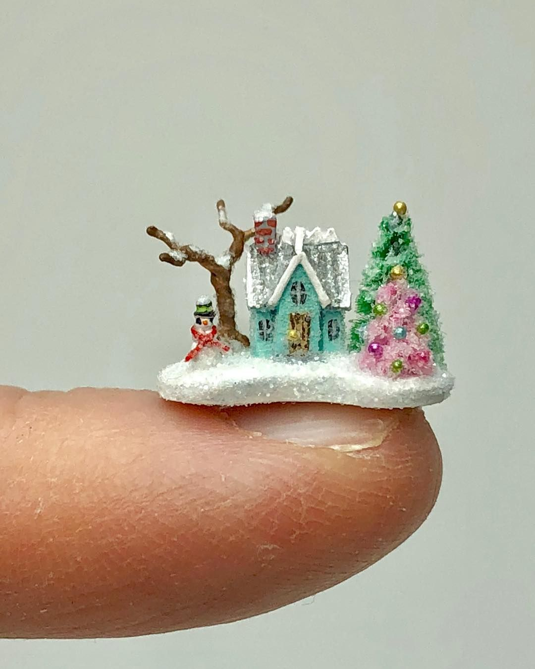Vintage Winter Miniature Dollhouse Picture