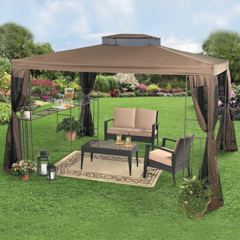 Backyard Decor With Gazebos Brylanehome 10 X 12 Rectangular Gazebo With Bar Shelf Outdoor Canopy Gazebo Backyard Canopy Canopy Outdoor