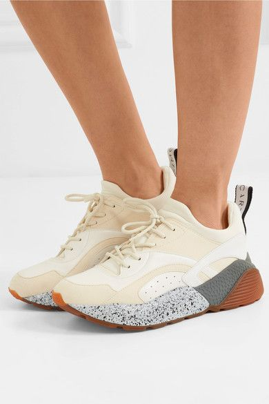 Eclypse Faux Leather, Suede And Neoprene Sneakers - White Stella McCartney