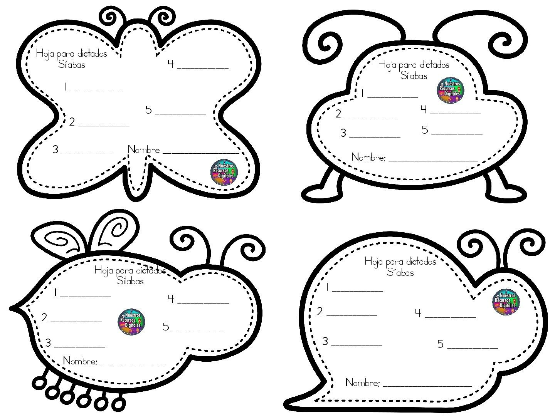 hojas-para-dictados-001 | lectoescritura infantil | Pinterest | Hoja ...