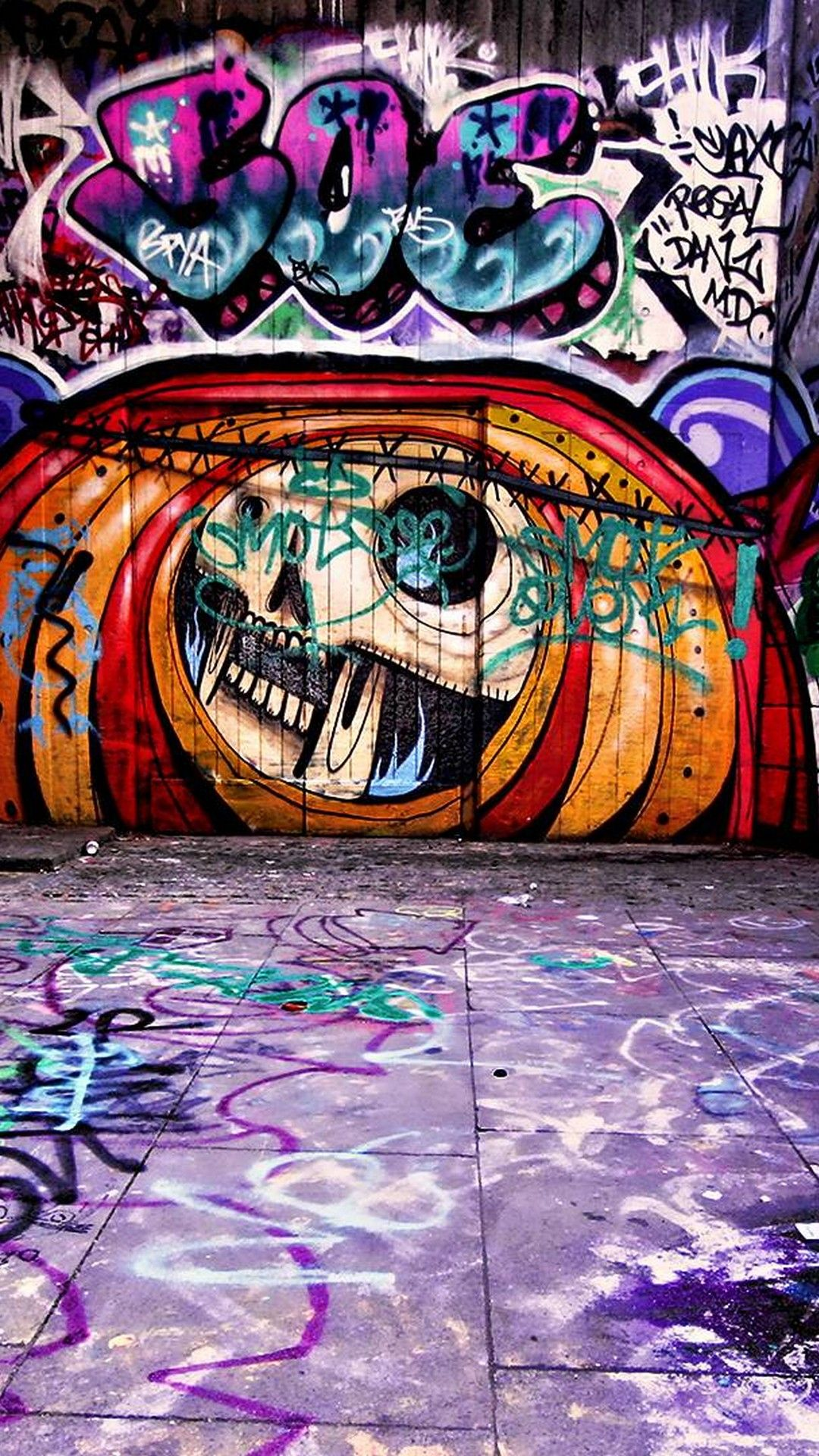 iPhone X Wallpaper Graffiti วอลเปเปอร์โทรศัพท์