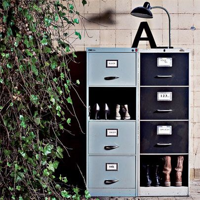 Okay So You Actually Make Metal Filing Cabinets Kinda Cool Hmm Avec Images Classeur Decoration Meuble Relooker Meuble