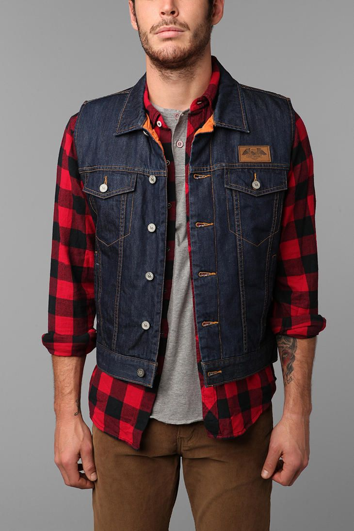 Rinsed denim shell with full quilted lining. #urbanoutfitters