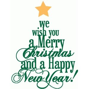 silhouette design store merry christmas word tree - Merry Christmas Words