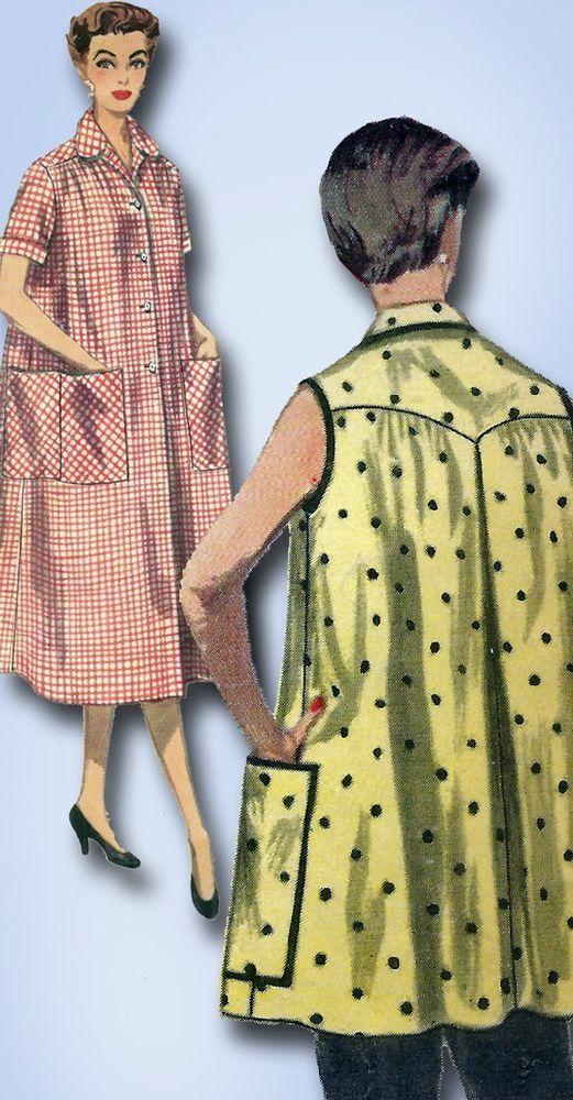 1950s Vintage Misses Smock Uncut 1954 Simplicity Sewing Pattern 4979 ...