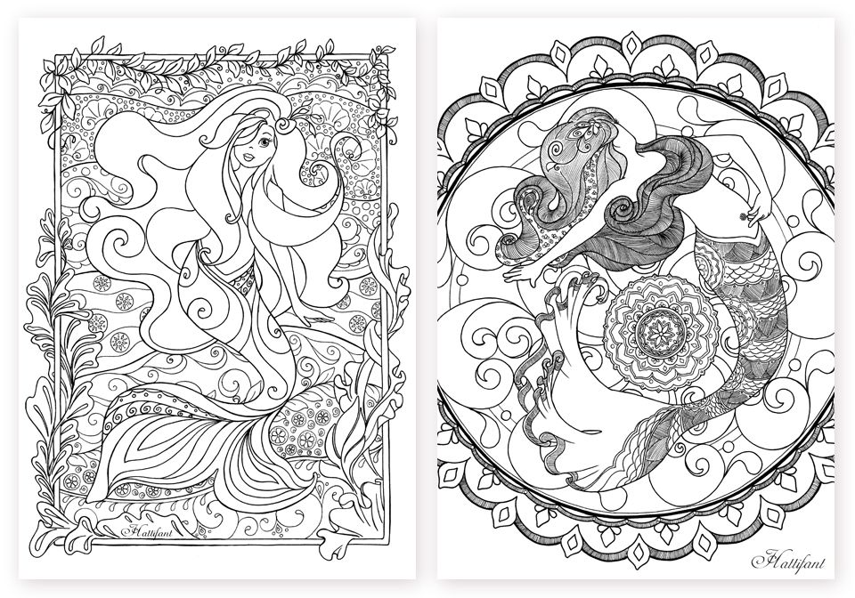 Click On The Picture And It Will Take You To Where Can Download Them For Free As A Pdf Hattifants Mermaid Galore Grown Up Coloring Pages