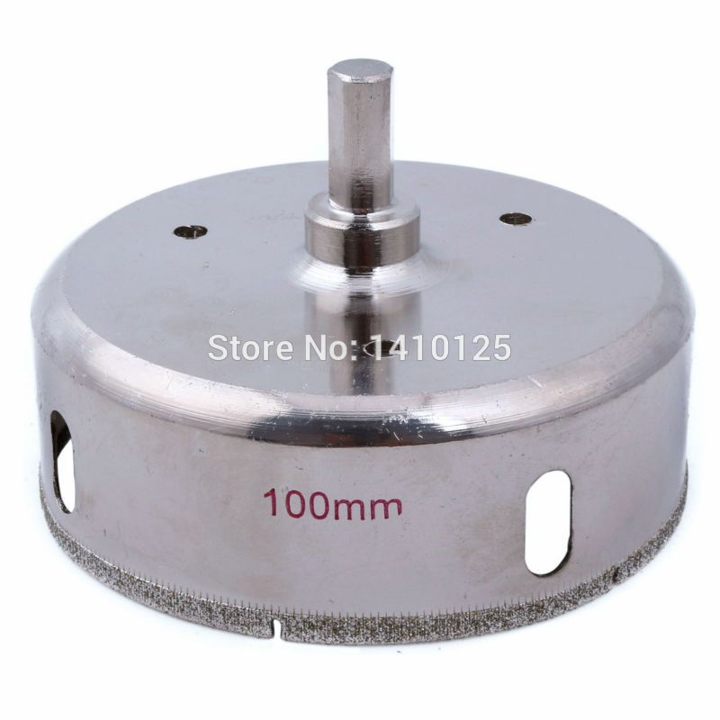 100 Mm 4 Inch Diamond Hole Saw Granite Drill Bit Coated Masonry Drilling Cutter Tools For Stone Marble Glass Ceramic Ti Diamond Tile Drilling Tools Drill Bits