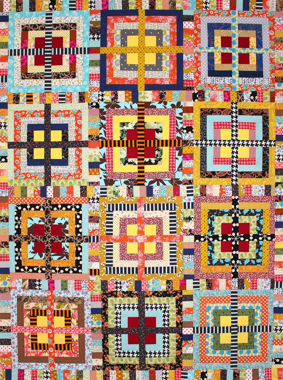 """""""Golden Pond"""" quilt by Karen Griska. See pattern on Etsy: KarenGriskaQuilts. Selvage Blog"""