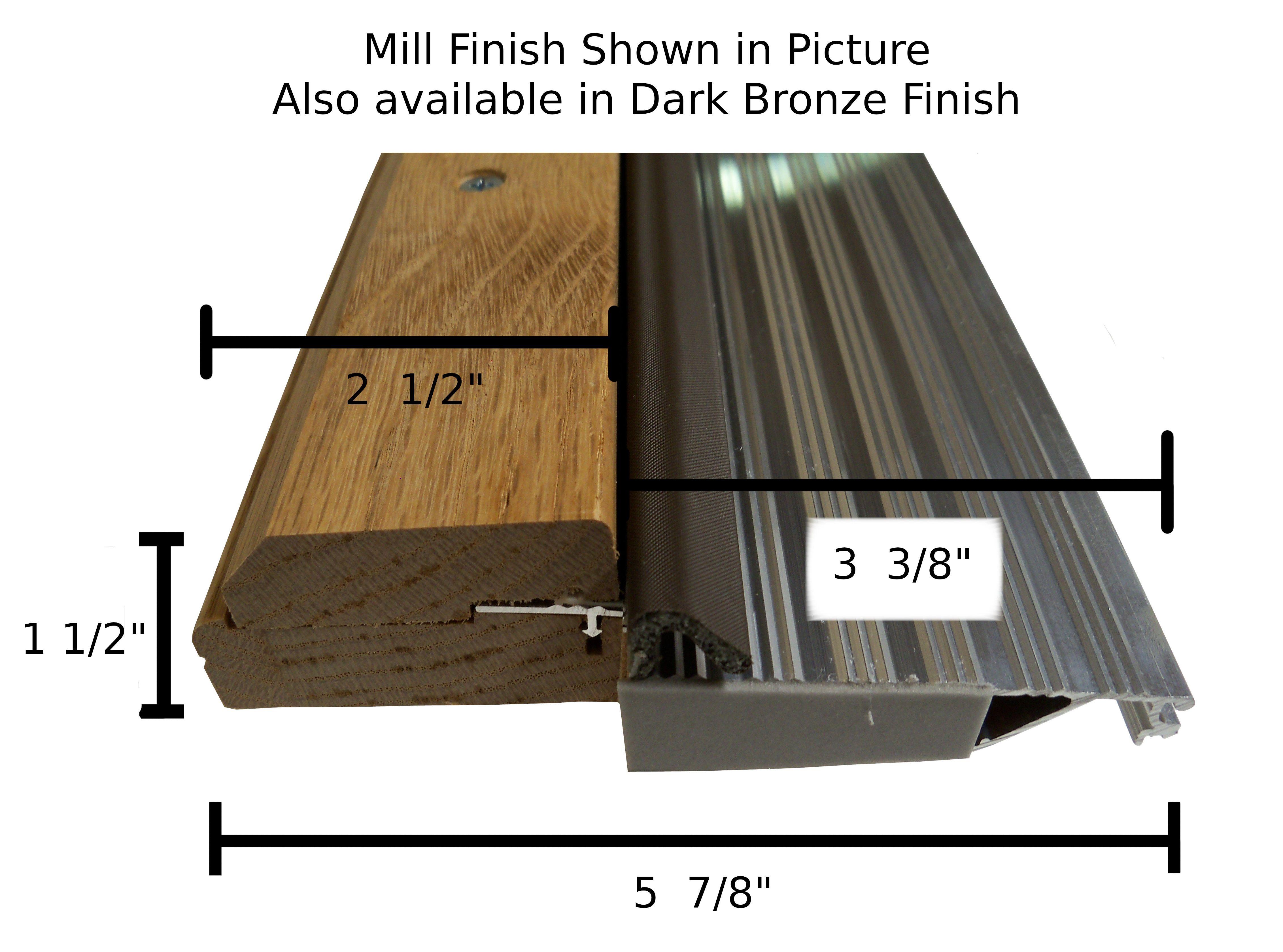Outswing Exterior Threshold 5 7 8 X 72 7 16 Exterior Door Threshold Aluminum Extrusion Solid Oak