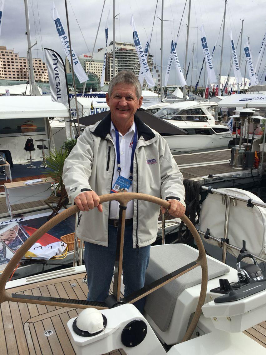 Charlie test sailing his new Sydney- Hobat ride   Cumberland