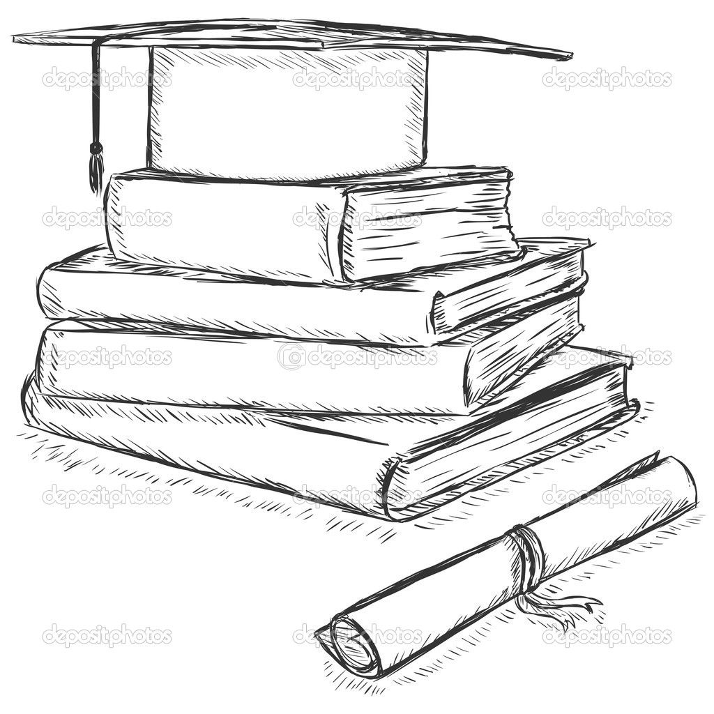Stack Of Books Line Drawing Google Search Book Drawing Line