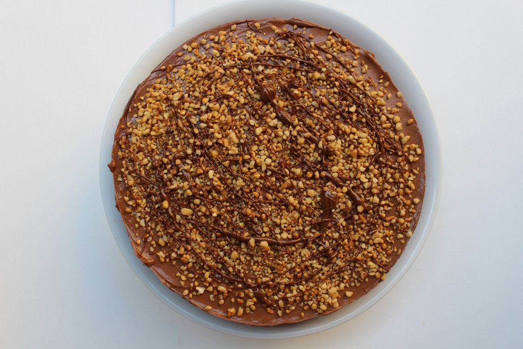 No Bake Nutella Cheese Cake - Touch of Flower