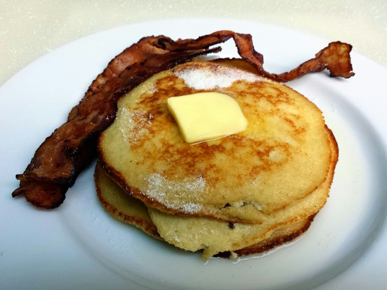 "fatcatketo: "" I needed pancakes 1/2 c. Almond flour 1 tsp baking powder 1 tsp vanilla 1 package of truvia 2 tbsp softened cream cheese 1 egg If the batter is too thick you can thin it out with water..."