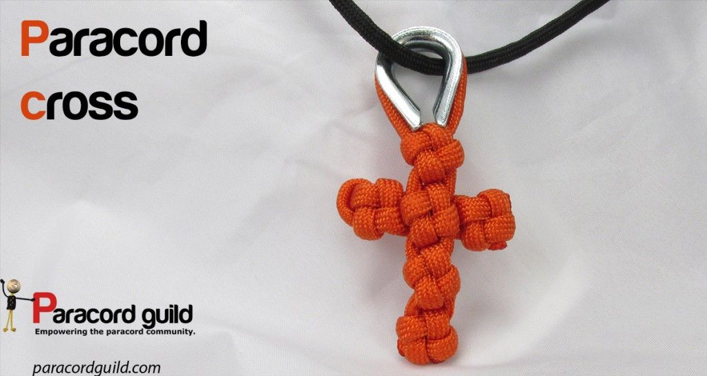 How to make a paracord cross