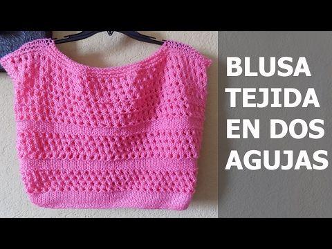 JERSEY-SUÉTER A MEDIDA FÁCIL Y RÁPIDO (dos agujas) - YouTube ...