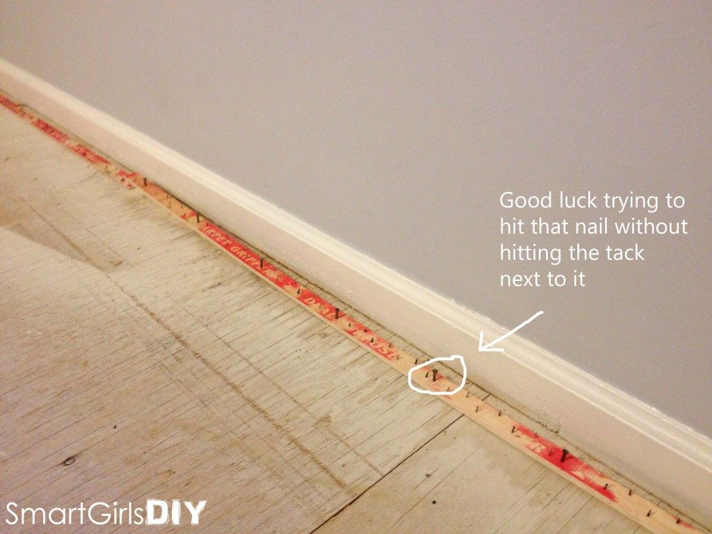 Install New Tack Strips Carpet Installation Diy Carpet Tack Board