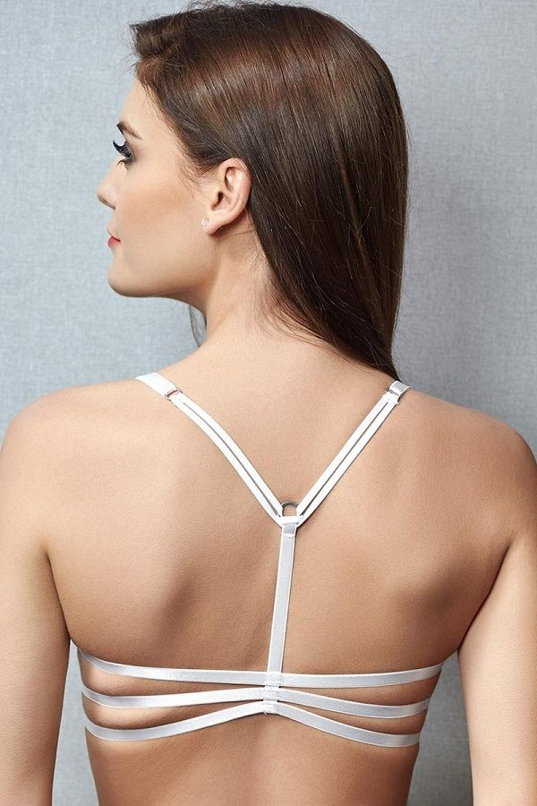 b9349d46d2f 18 Bras with beautiful back designs You love to Show Off - LooksGud. Penny  White Very Vital Strappy Racerback Front Open Bra