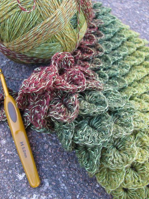 Crocodile Crochet Stitch Pattern | Tejido, Ganchillo y Puntadas