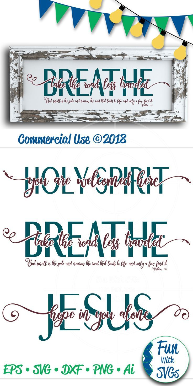 Hope in Jesus, Holy Spirit, Road Less Traveled SVG Bundle
