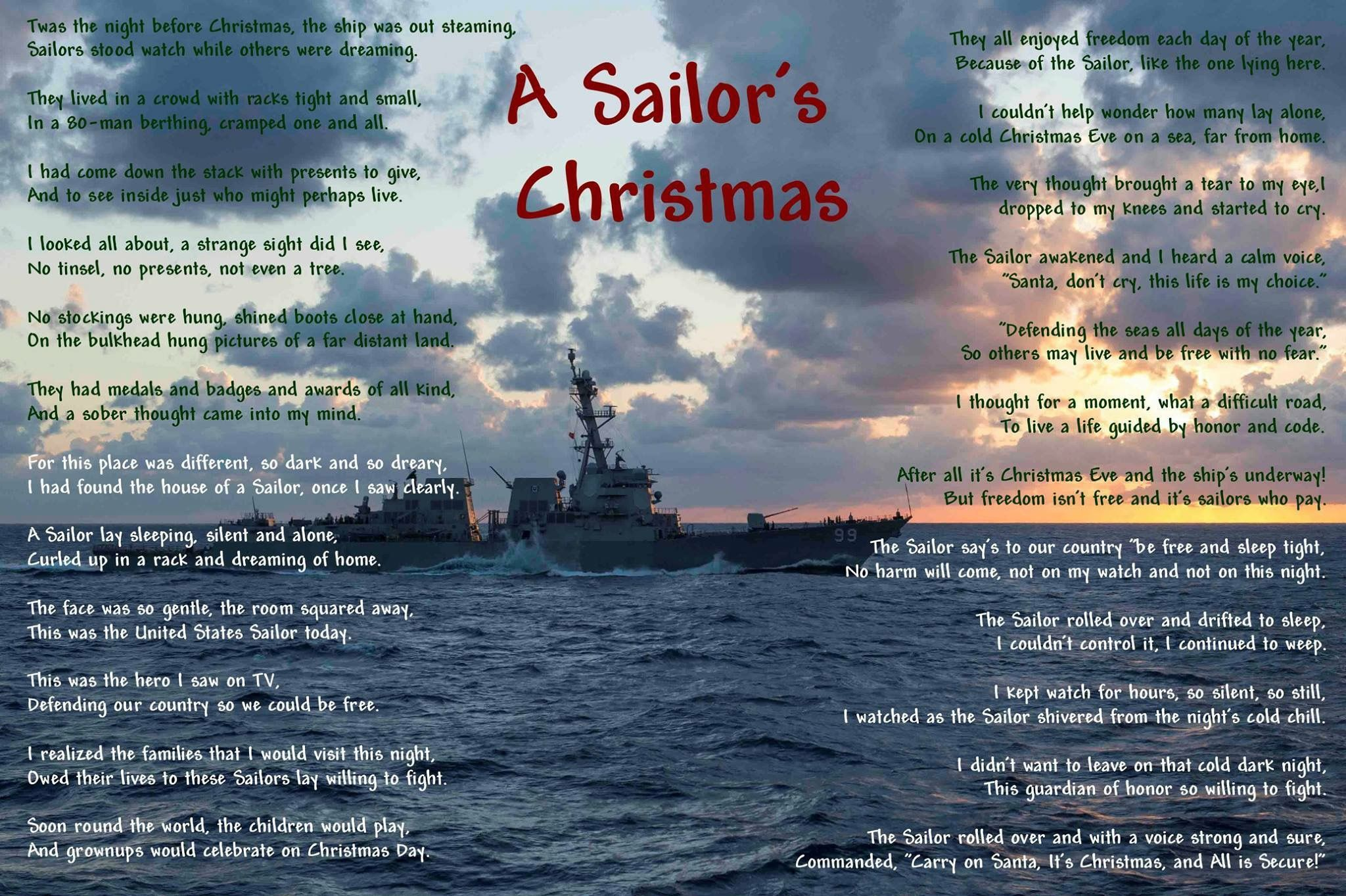 Pin By Carrie Johnson On Navy Mom Sailor Christmas Twas The Night The Night Before Christmas