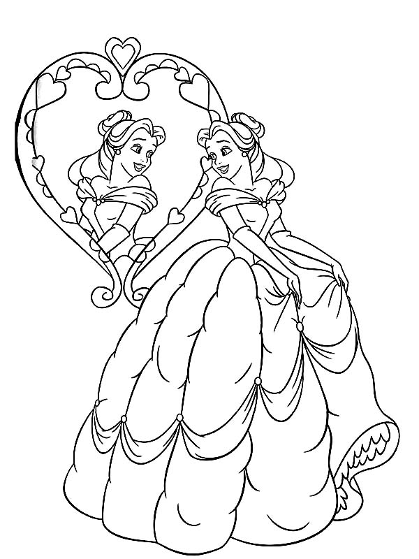 Pin By Coloringsun On Belle Coloring Pages Disney Coloring Pages Belle Coloring Pages Princess Coloring Pages