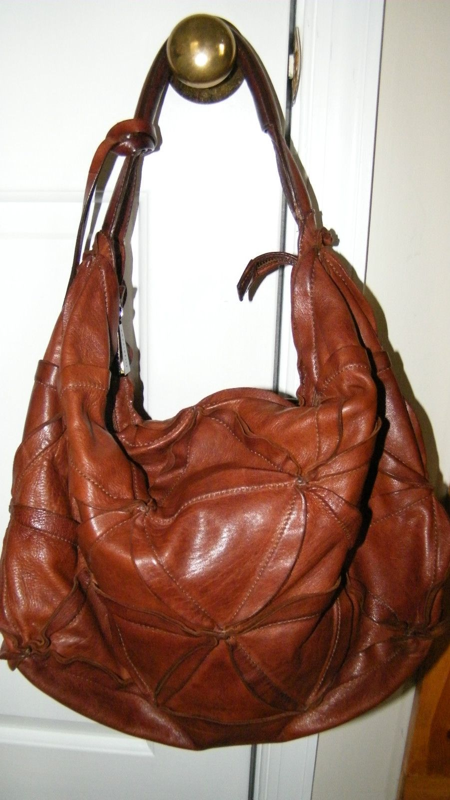 b4c6456fe412 Coccinelle Dark Brown Soft Leather Slouchy Hobo Handbag Boutique Gorgeous