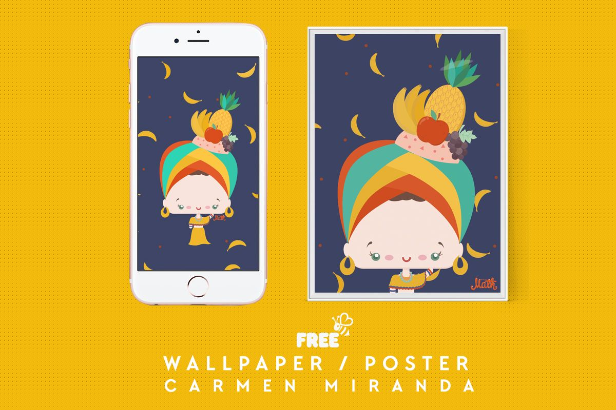 carmen miranda free printable illustration poster wallpaper
