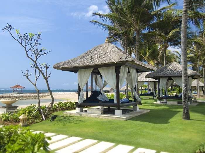 Conrad Bali Hotel - Bali, Indonesia - Beach Bale with Pavilion #HHWeekend
