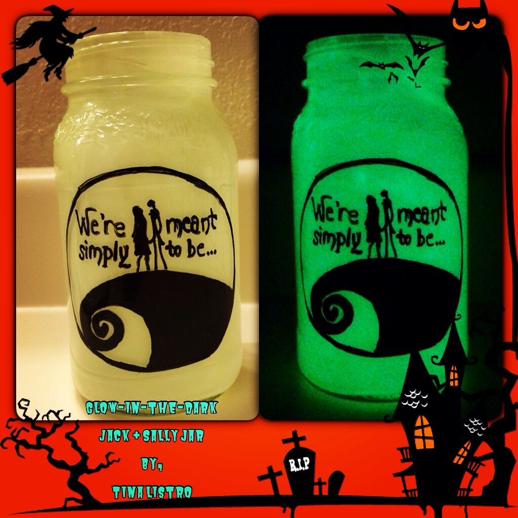 Fabulous Glow-in-the-Dark Nightmare Before Christmas Jars - 2014 ...