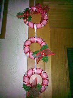 Photo of creative arachne: corona di Natale da appendere