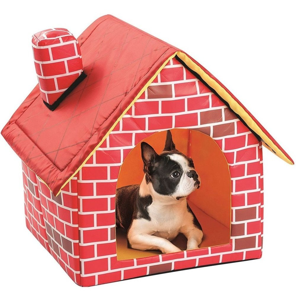 Dog S House Shaped Breathable Bed Warm Dog House Pets Puppy Kennel
