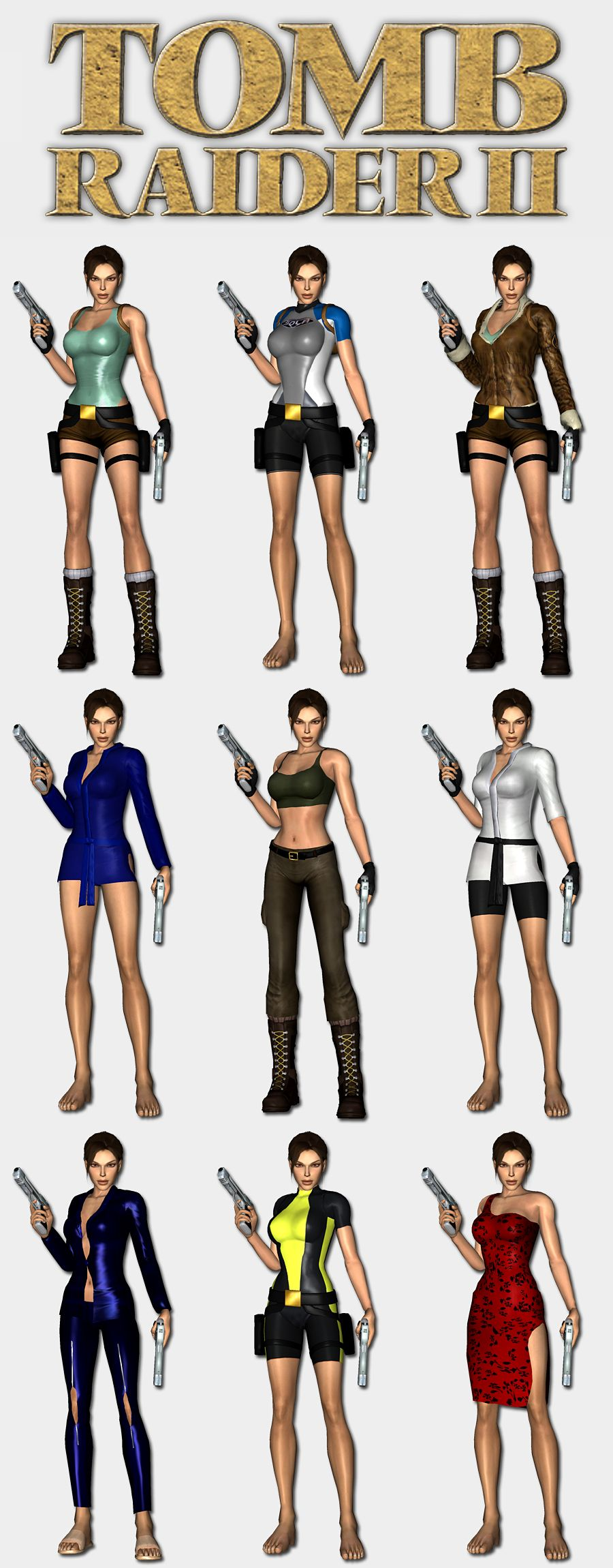 Tomb Raider 2 Lara S Outfits By Hailsatana Tomb Raider Outfits