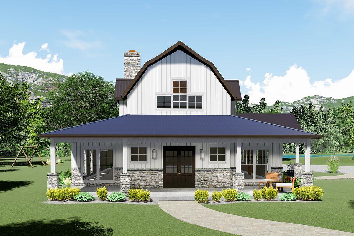 Plan 70618MK Striking Modern Farmhouse Plan with Sleeping