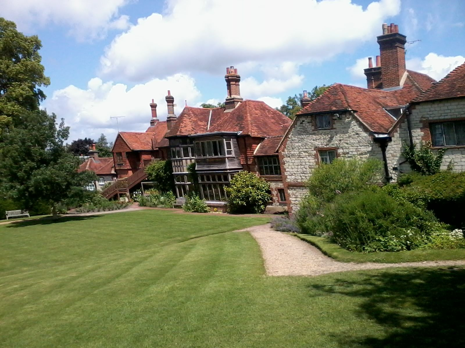 Gilbert White's house: the parlour (with the large windows) was added by him to give a better view of his garden.