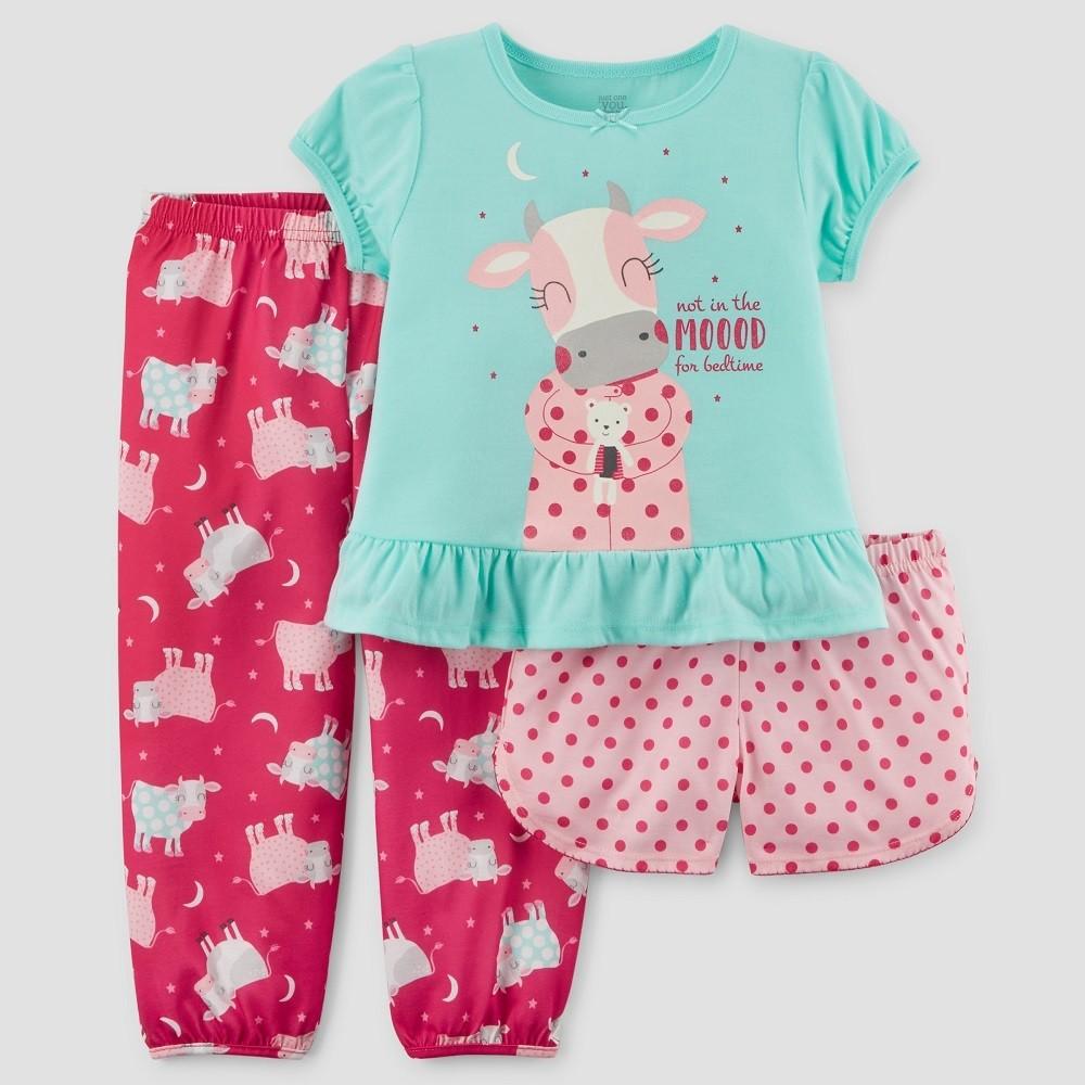 Long Sleeve Pajama Set NWT 3T Sweet Dreams 3-pc CARTER/'S® Girls/' 2T