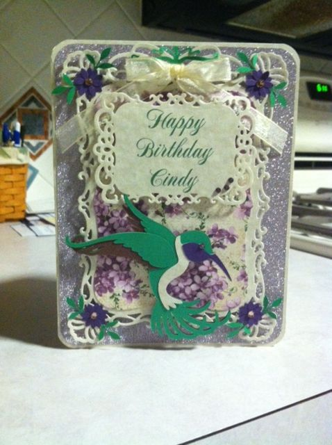 birthday using Spellbinders and Cricut