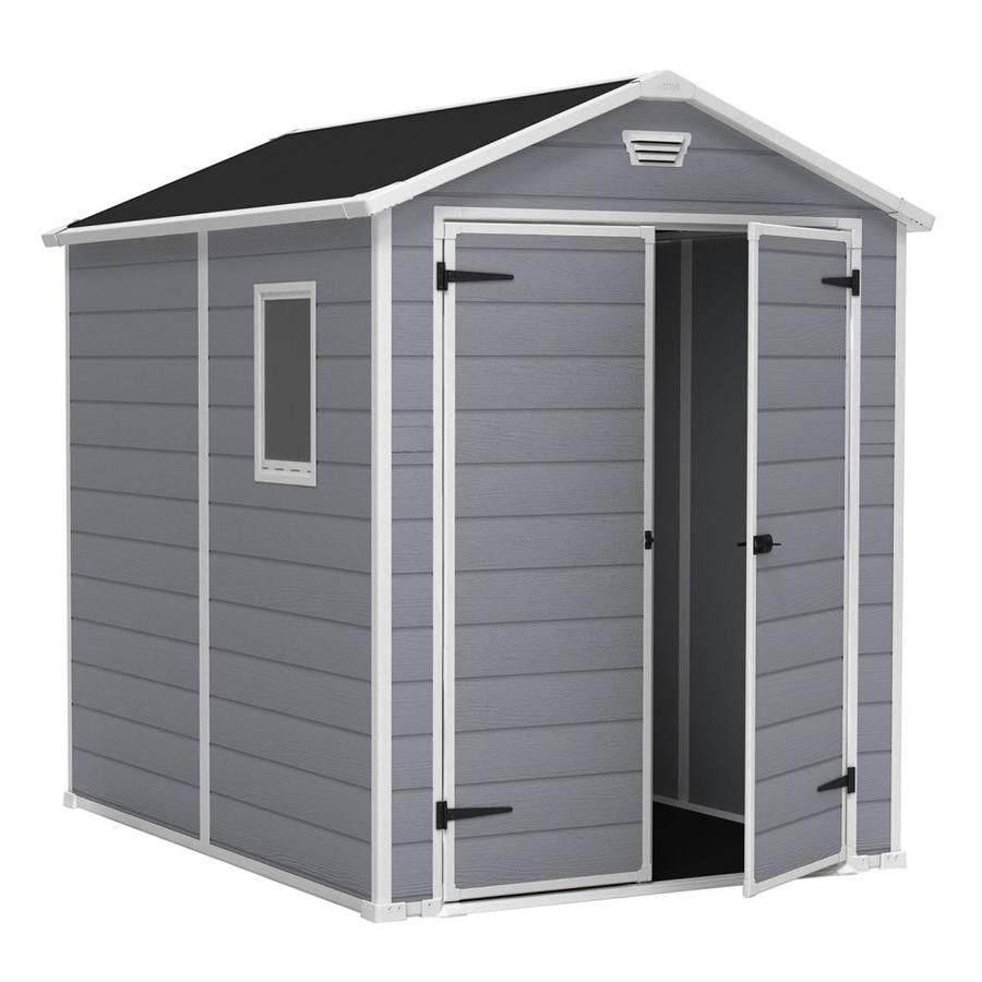 Keter Common 6 Ft X 8 Ft Actual Interior Dimensions 5 541 Ft X 7 283 Ft Manor Gable Storage Shed At Outdoor Storage Sheds Garden Storage Shed Shed Storage