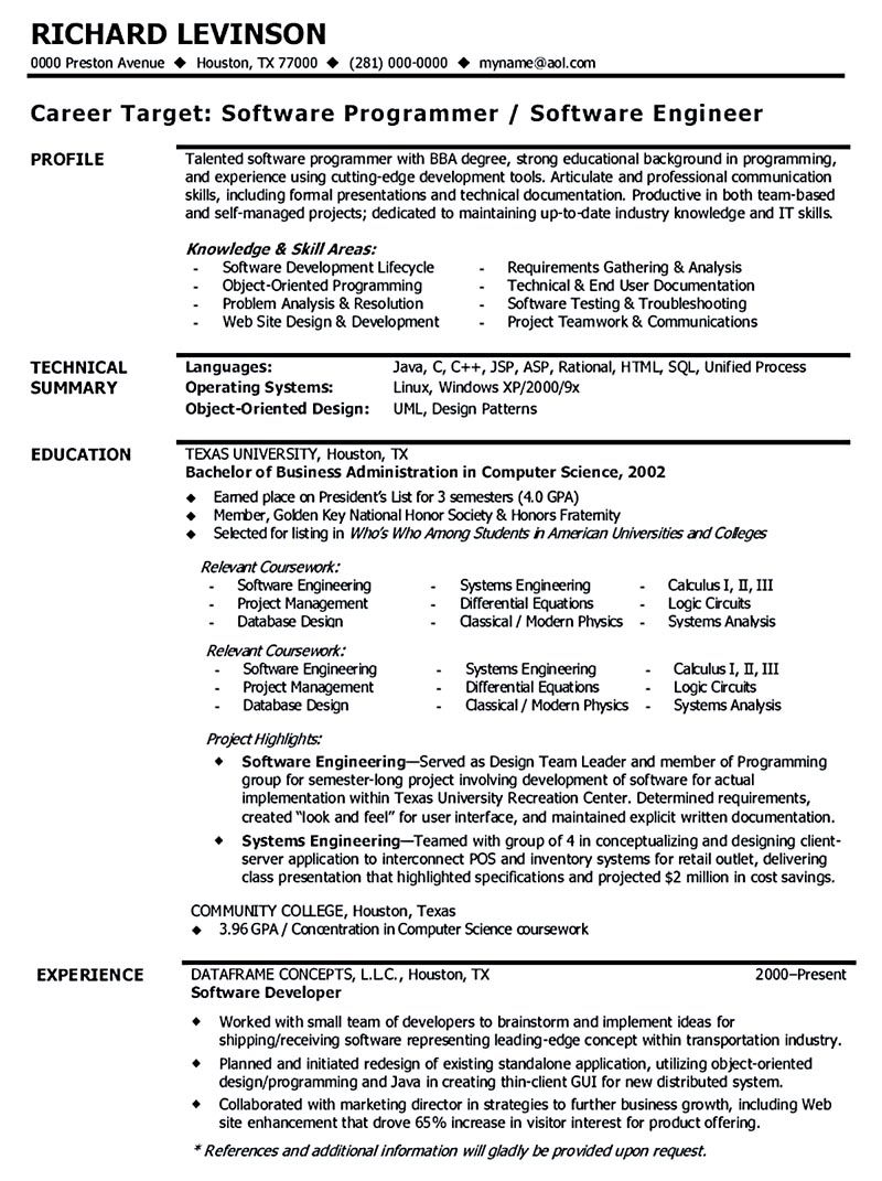 Software Engineer Resume Includes Many Things About Your Skills Education Awards And Also Wha Engineering Resume Engineering Resume Templates Resume Examples