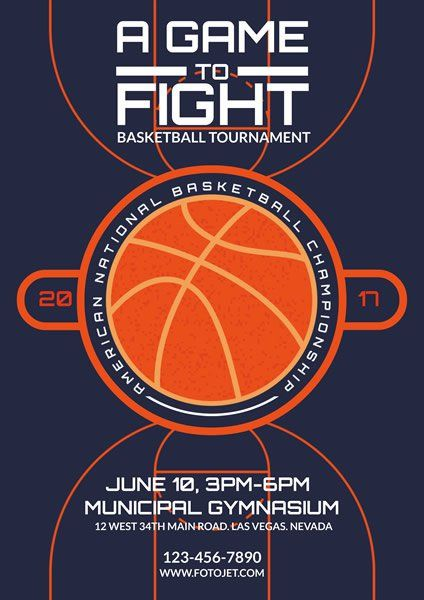 Basketball #Flyer: Basketball Tournament Flyer Template | Flyer