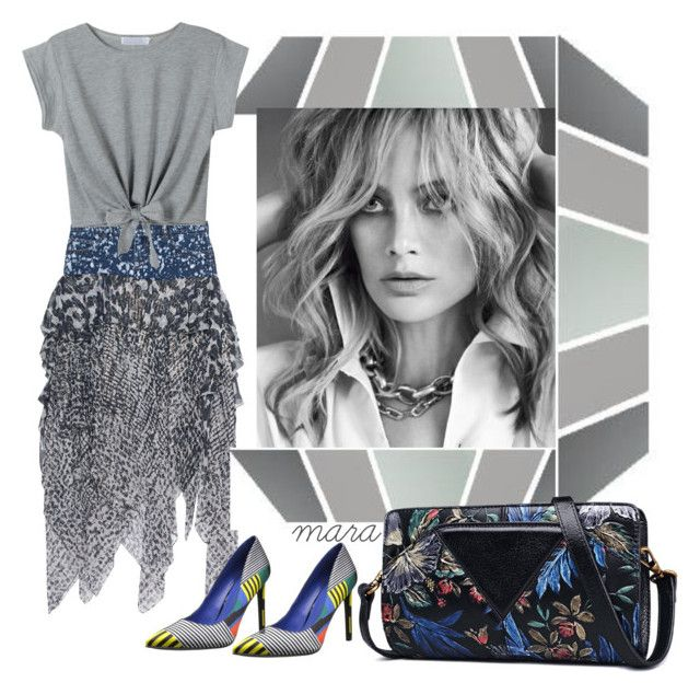 """""""Bit color for the greys"""" by marastyle ❤ liked on Polyvore featuring Faith Connexion, Nine West and WithChic"""