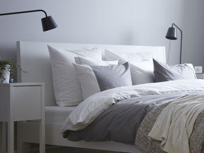 Ikea S Nordli Headboard Is Angled Making It Comfortable To Lean