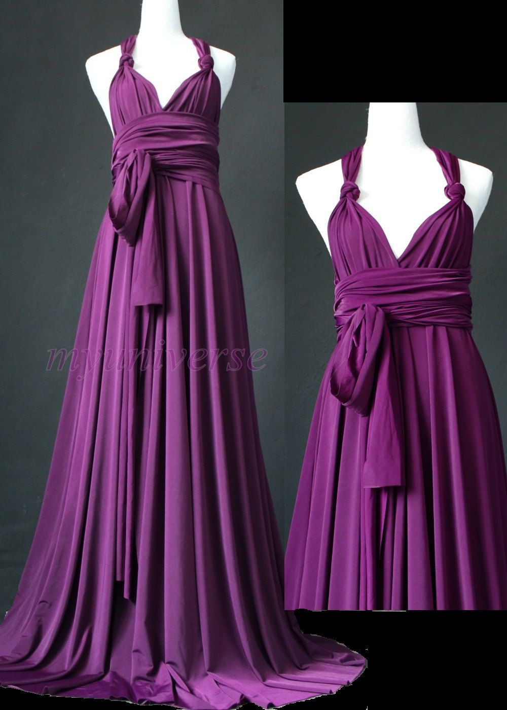Purple Bridesmaid Dress Maxi Dress Infinity Dress Plus Size ...