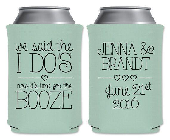 Wedding Can Coolers Beverage Insulators Custom Wedding Favors We