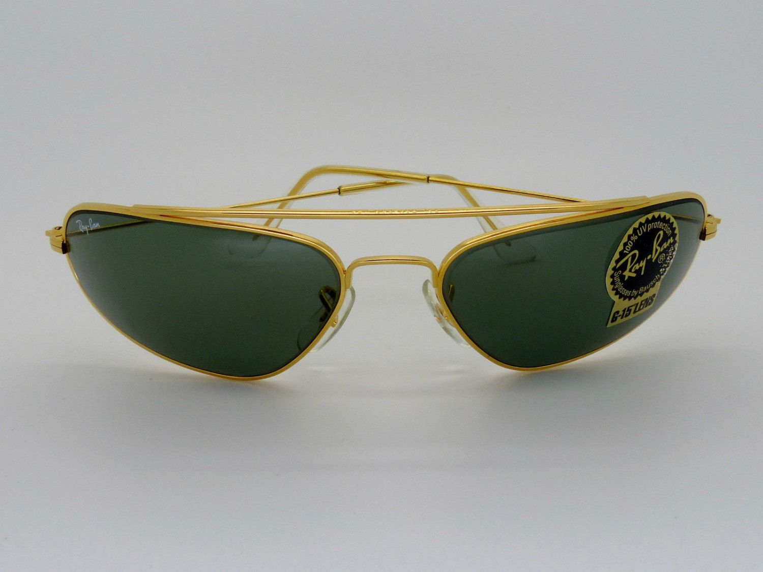 439d92ba38e7 Vintage Ray Ban W1958 Fugitives Modified Aviator G-15 lens NOS New Box/Case  by VSOx on Etsy