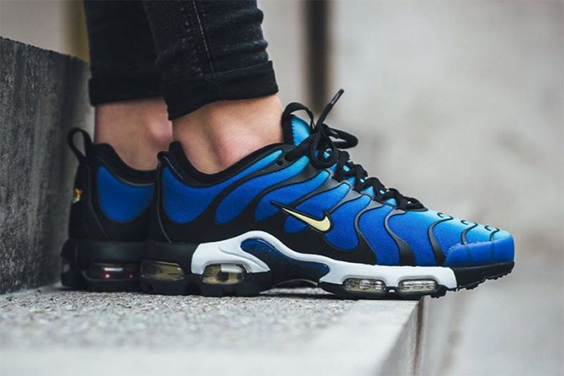 The women's Nike Air Max Plus TN Ultra is featured in a