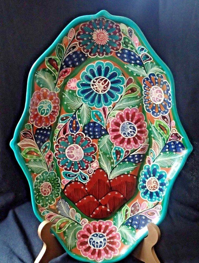 Afbeeldingsresultaat voor mexican folk art plates