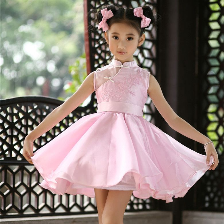 (Buy here: http://appdeal.ru/6cp ) 2016 pink girls birthday party tutu fancy dresses kids formal vestidos for girls of 4 to 14 years old kids clothing SKD001476 for just US $44.82