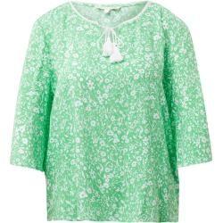 Photo of Tom Tailor Denim tunikebluse til kvinder med pom poms, grøn, almindelig, størrelse L Tom TailorTom Tailor