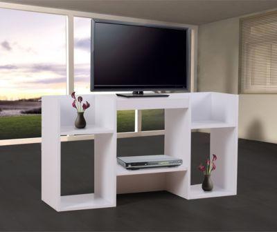 heute-wohnen TV-Rack Fernsehtisch Regal schwarz Wohnzimmer \u003e TV