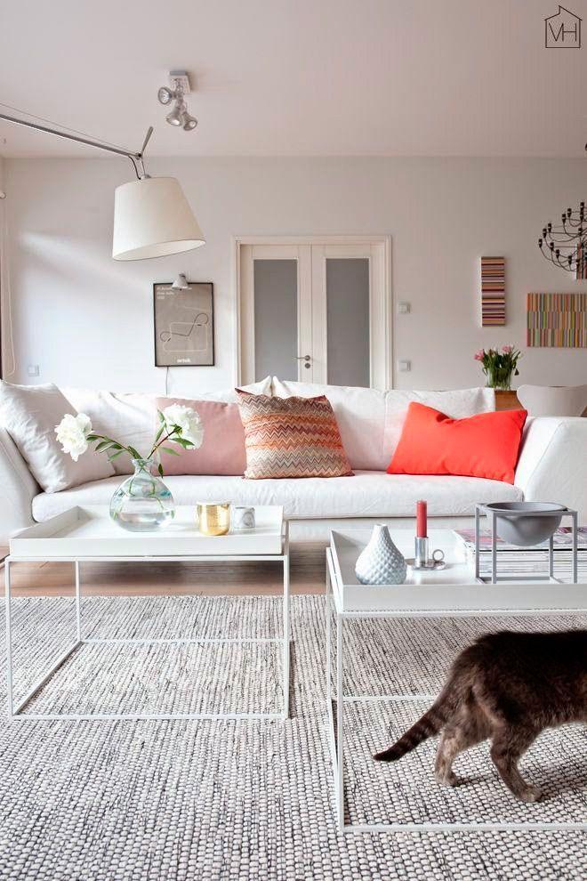 cojines para sofá blanco | salon | Pinterest | Salons